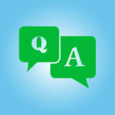 queries: Q&A sign symbol. Speech bubbles with question and answer.
