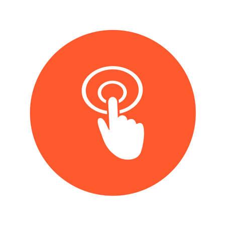 touch screen interface: Hand cursor sign icon. Hand pointer symbol. Modern UI website navigation. Flat design.