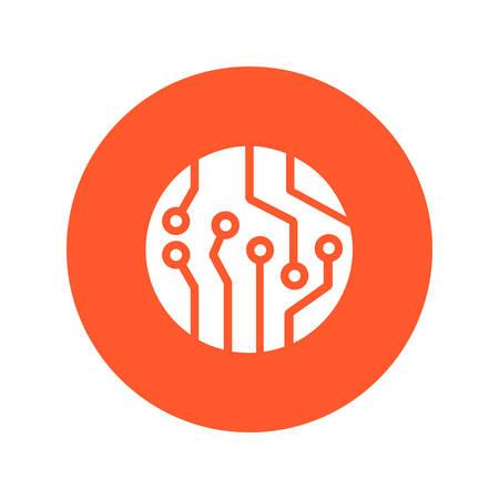 Microchip sign symbol.