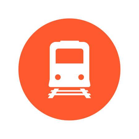 depot: Train sign symbol. Illustration