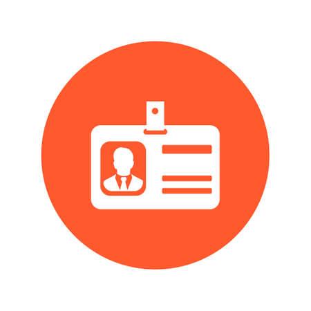 business card holder: Identification card symbol. Illustration