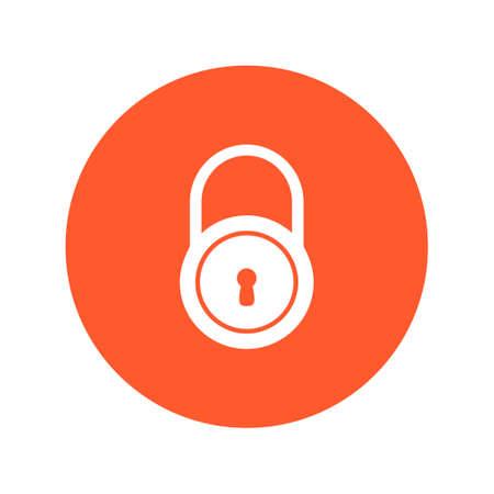 Lock sign symbol.