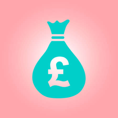 Pound GBP currency symbol. Flat design style. Illustration