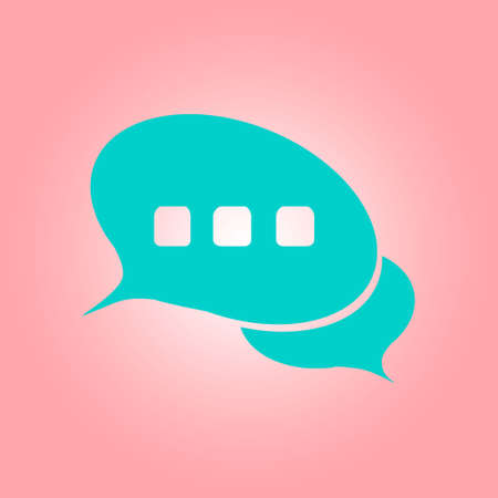 Chat Flat Icon.Badge discussion, dialogue, correspondence character.