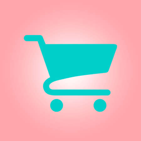 shopping chart: Flat icon of shopping chart. Add a product to the cart.