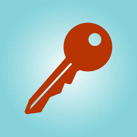 Key icon. Lock symbol. Security sign. Flat design style.