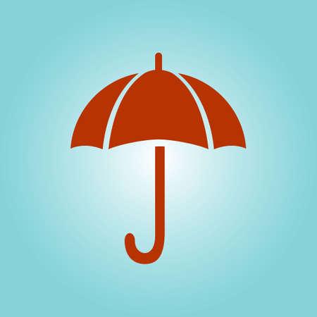 Umbrella sign icon. Rain protection symbol. Flat design style. Illustration