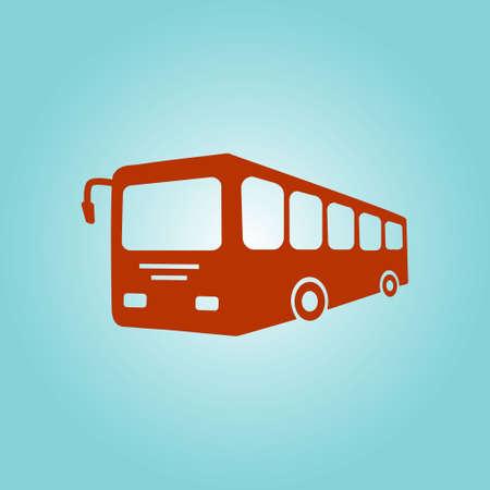 Bus sign icon. Public transport symbol. Flat design style.