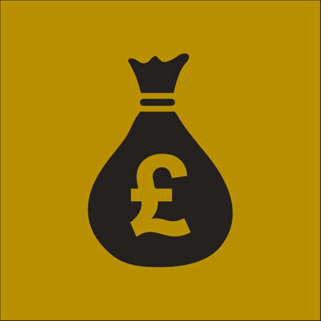 Pound GBP currency symbol. Flat design style. Illustration