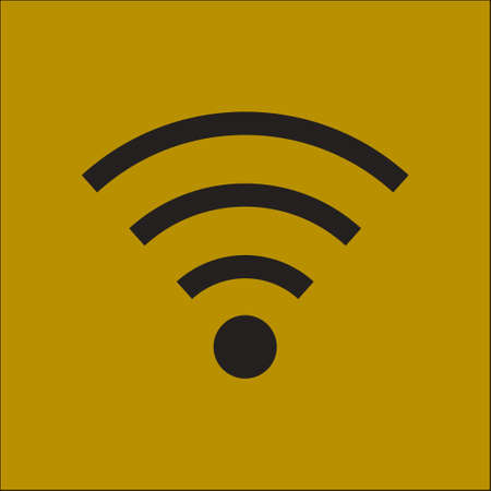 wireless signal: Wifi Symbol. Vector wireless network icon. Flat design style. Illustration
