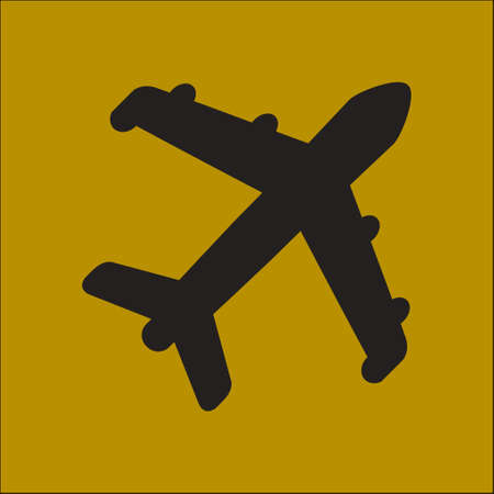 Plane icon. Travel symbol. Airplane plane from the bottom sign. Illustration