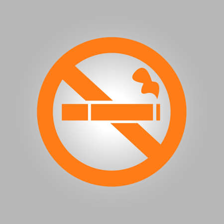 habit: No smoke icon. Stop smoking symbol. Vector illustration. Filter-tipped cigarette. Icon for public places. Illustration