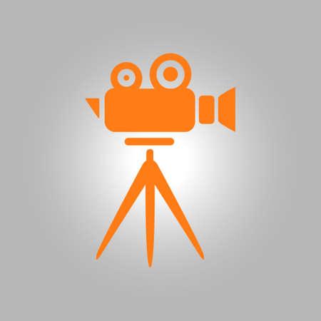 director chair: Cinema camera icon. Flat design style. Vector. Illustration