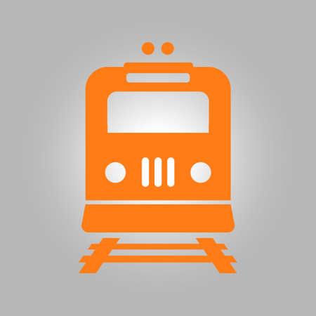 depot: Train icon. Metro symbol. Railway station sign.