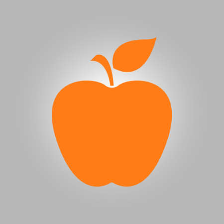Apple icon. Healthy food concept. Naturopathy symbol. Illustration