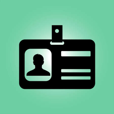 business card holder: Identification card icon.