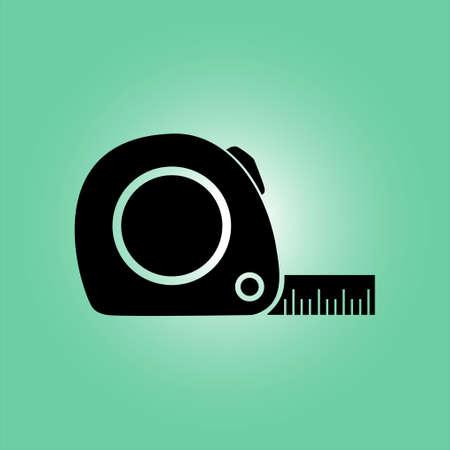 Icono de cinta métrica. Ilustración de vector