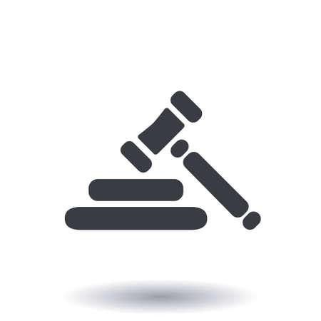 Auction sign symbol. Illustration