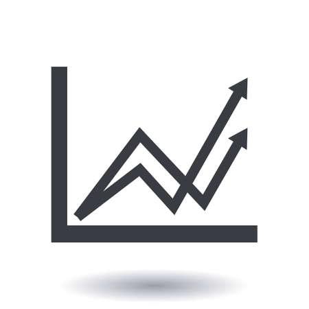 Business graph icon.