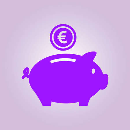 pictograph: Piggy bank icon. Pictograph of moneybox. Flat design.