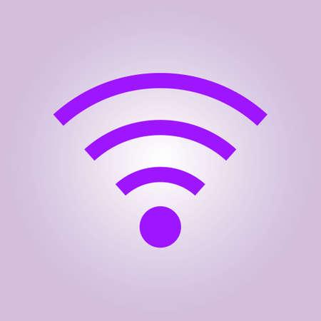 Wifi Symbol. Vector wireless network icon. Flat design style. Illustration