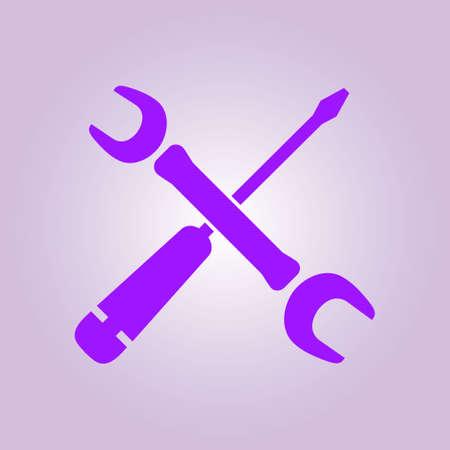Repair Icon. Service  symbol. Tools singn. Flat design style. Illustration