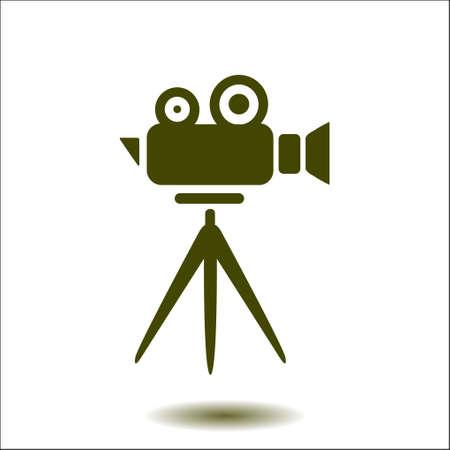 Cinema camera icon. Flat design style. Vector. Illustration