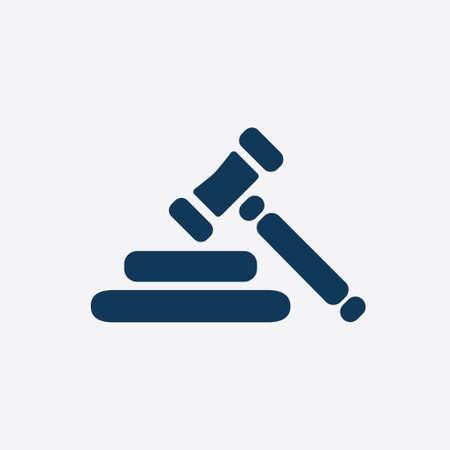 punish: Auction hammer pictogram. Law judge gavel icon. Flat design style. Illustration