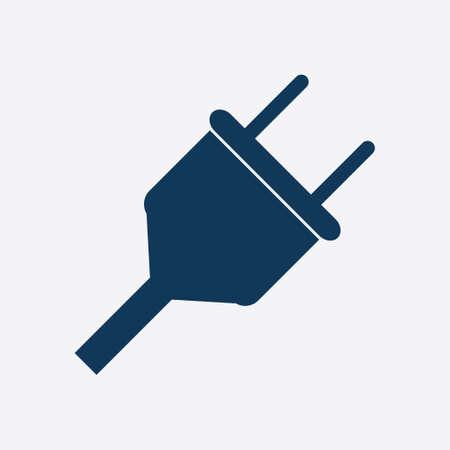 Vector electrical plug symbol. Web flat icon. Illustration