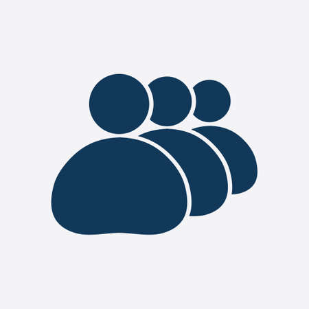 People or social sign icon. Minimal social groups in the business.