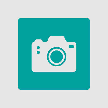 photographing: Photo camera symbol. DSLR camera sign icon. Digital camera. Flat design style.