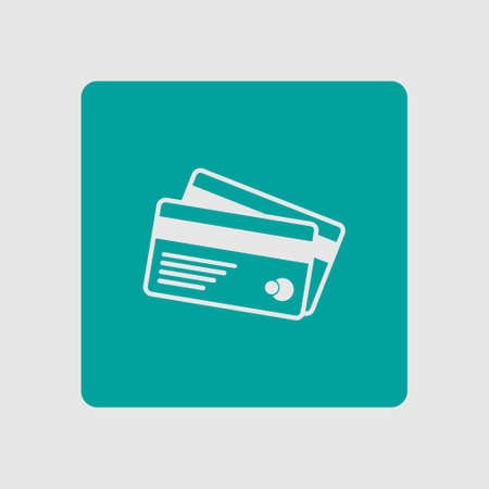 valid: Vector credit cards icon. Flat design style.