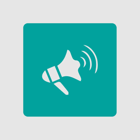 loud speaker: Megaphone soon icon. Loudspeaker symbol. News and Urgent ads.