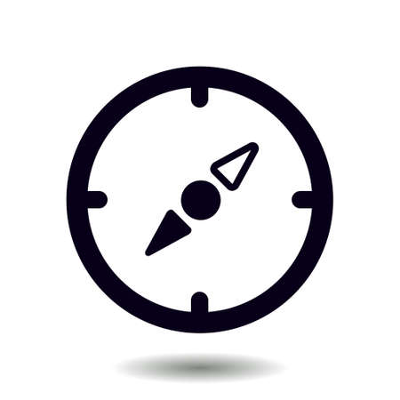 locality: Vector compass icon. Orientation in the locality. Flat design style.