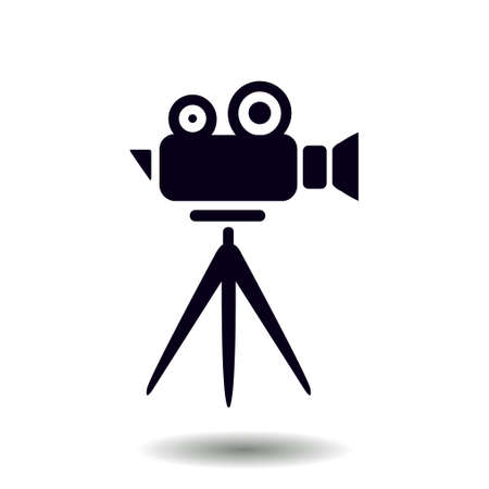 Cinema camera icon. Flat design style. Vector. Illustration