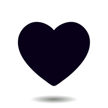 Valentine heart symbol. Sign of love. Enhance content rating. Ilustração