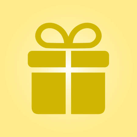 giftware: Gift box  icon. Present - a personal offer. Gift wrapping.