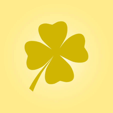 clovers: Leaf clover sign icon. Saint patrick symbol. Ecology concept. Flat design style.