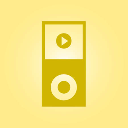pause button: Portable media player icon. Flat design style.