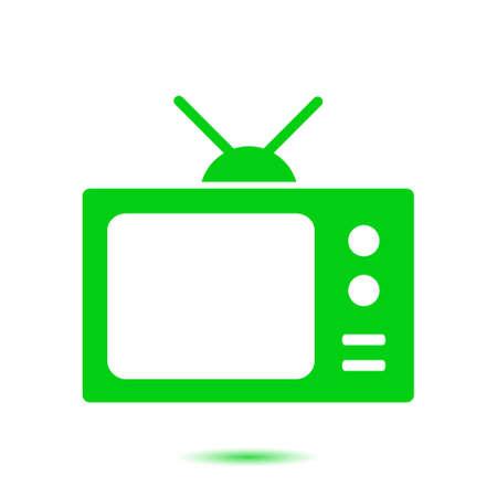 Tv icon. Flat design style. Icon of mass media.