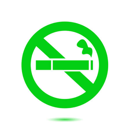 No smoke icon. Stop smoking symbol. Vector illustration. Filter-tipped cigarette. Icon for public places. Illustration