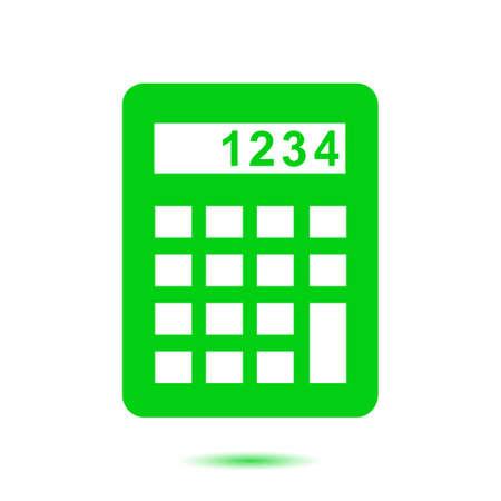calculating: Calculator icon. Calculate the cost price. Flat design style.