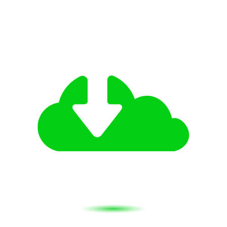 shiny buttons: Download  from cloud icon. Upload button. Load symbol. Illustration