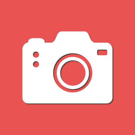 capturing: Photo camera symbol. DSLR camera sign icon flat design style.