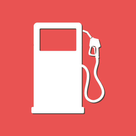 Gasoline pump nozzle sign flat design style.