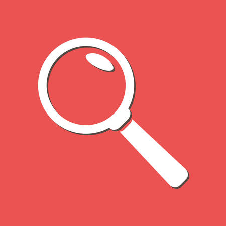 Loupe or search button flat design style.