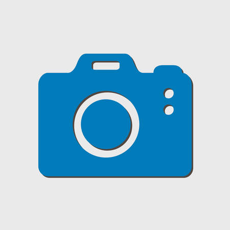capturing: Photo camera symbol. DSLR camera sign icon. Digital camera. Flat design style.