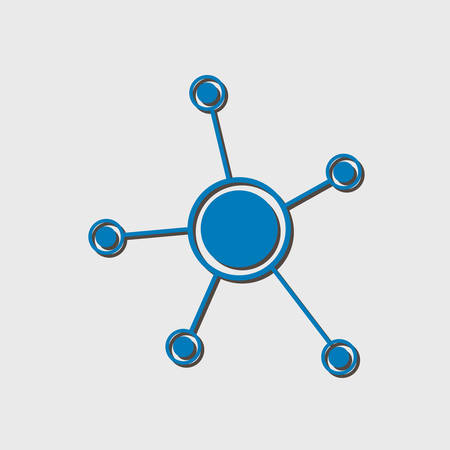 Social network single icon. Global technology. The network of social connections in the business.