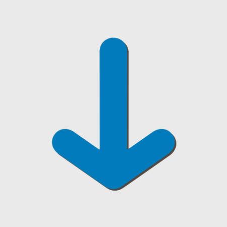 designator: Arrow icon. Pointer direction for land navigation. Illustration