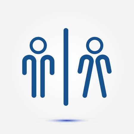 Toilet sign symbol.